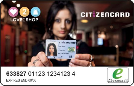 CitizenCard Love2shop card