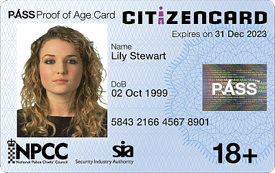 CitizenCard, a UK ID card, for applicants aged over 18